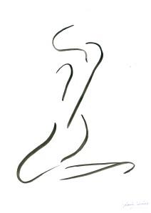 Dibujo de  Yolanda Jiménez: CUERPO I