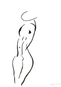 """Dibujo de Yolanda Jiménez: """"CUERPO II"""""""